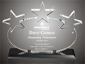 3 Star Oval Acrylic Award